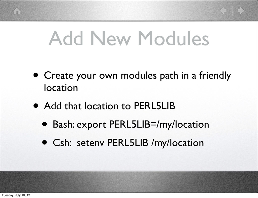 Add New Modules • Create your own modules path ...