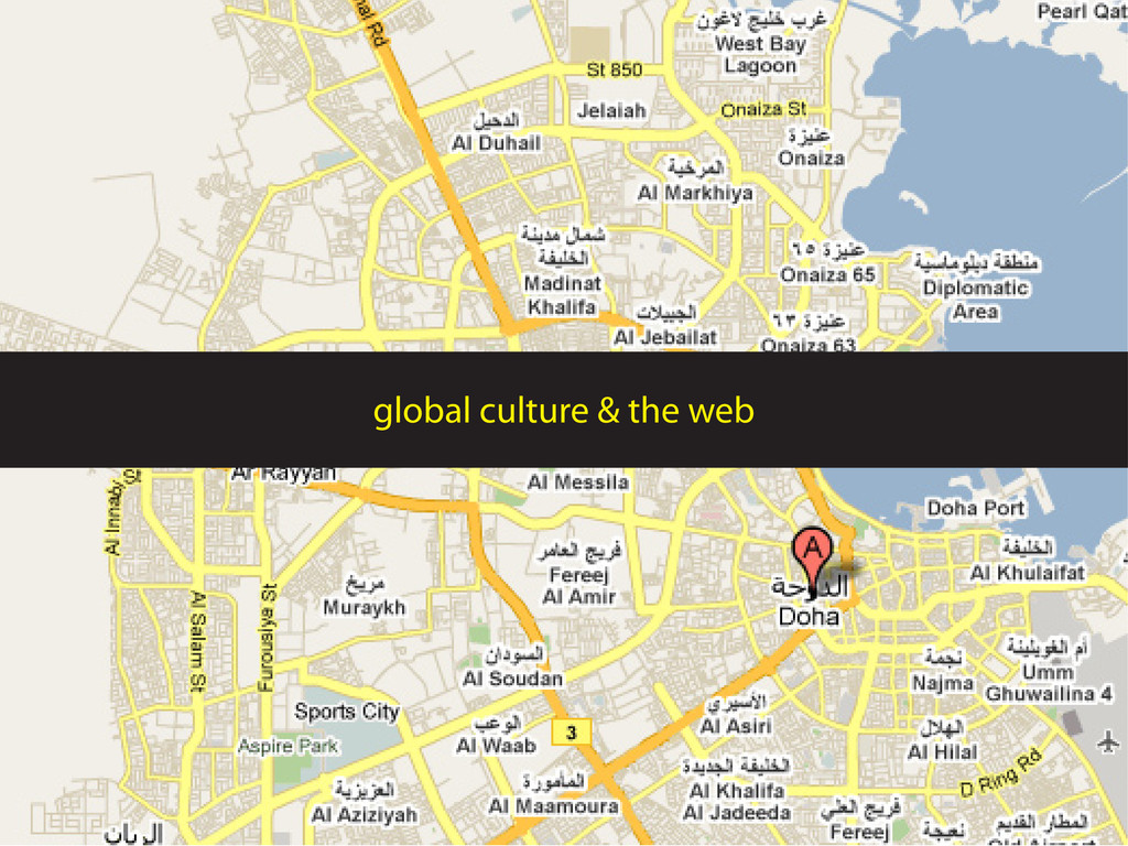 global culture & the web