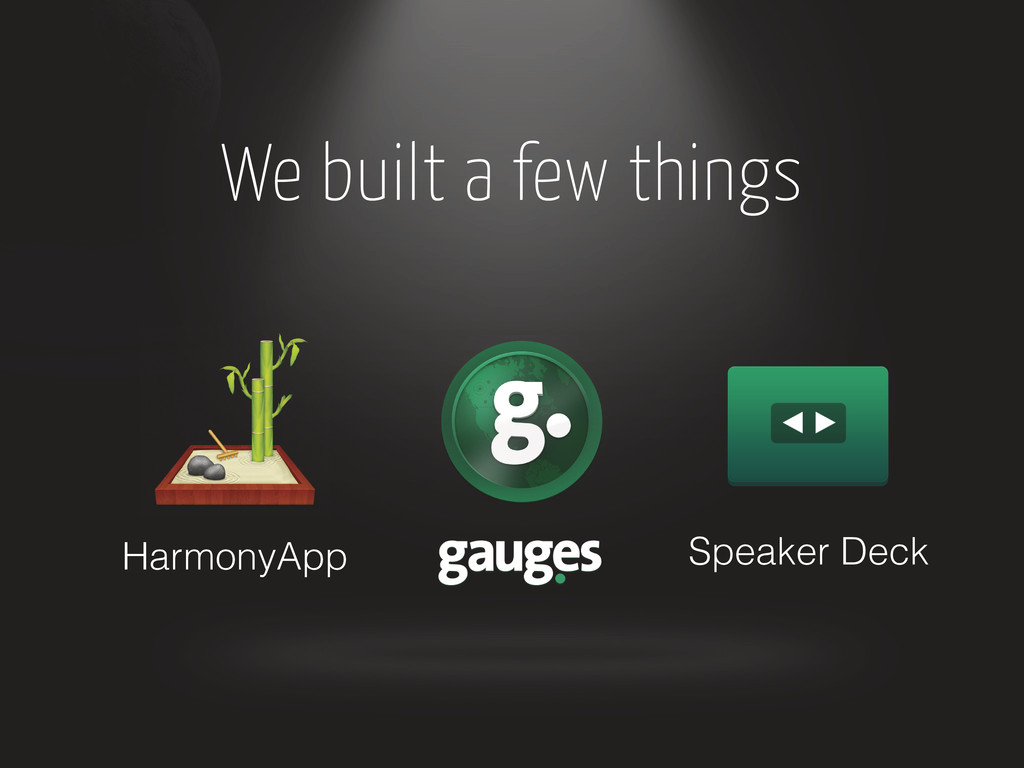 HarmonyApp Speaker Deck We built a few things