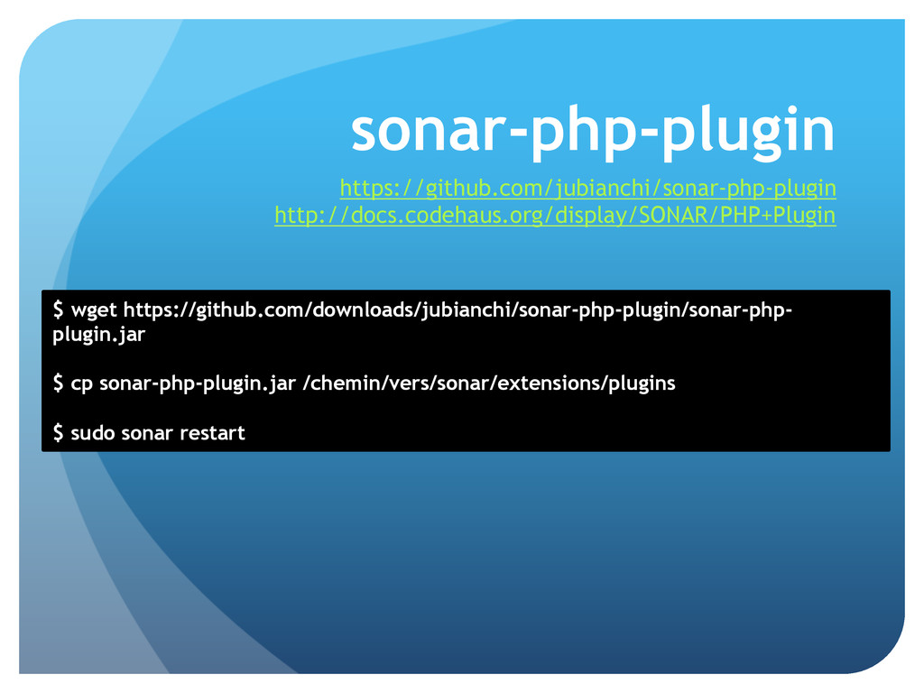 sonar-php-plugin https://github.com/jubianchi/s...