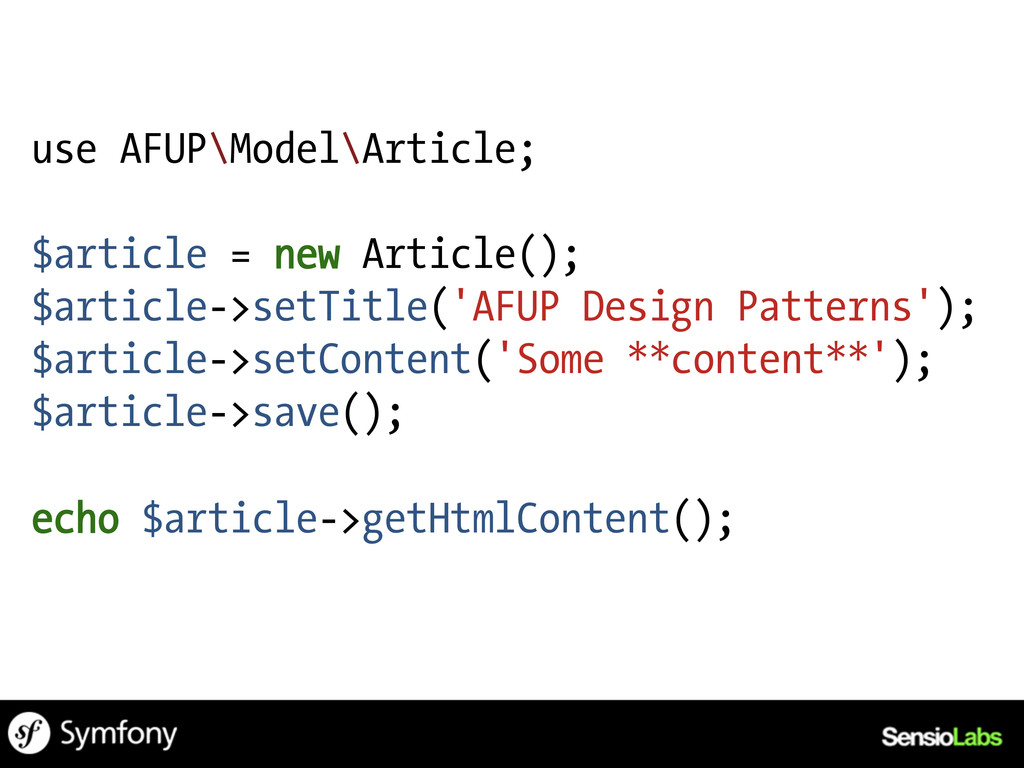 use AFUP\Model\Article; $article = new Article(...
