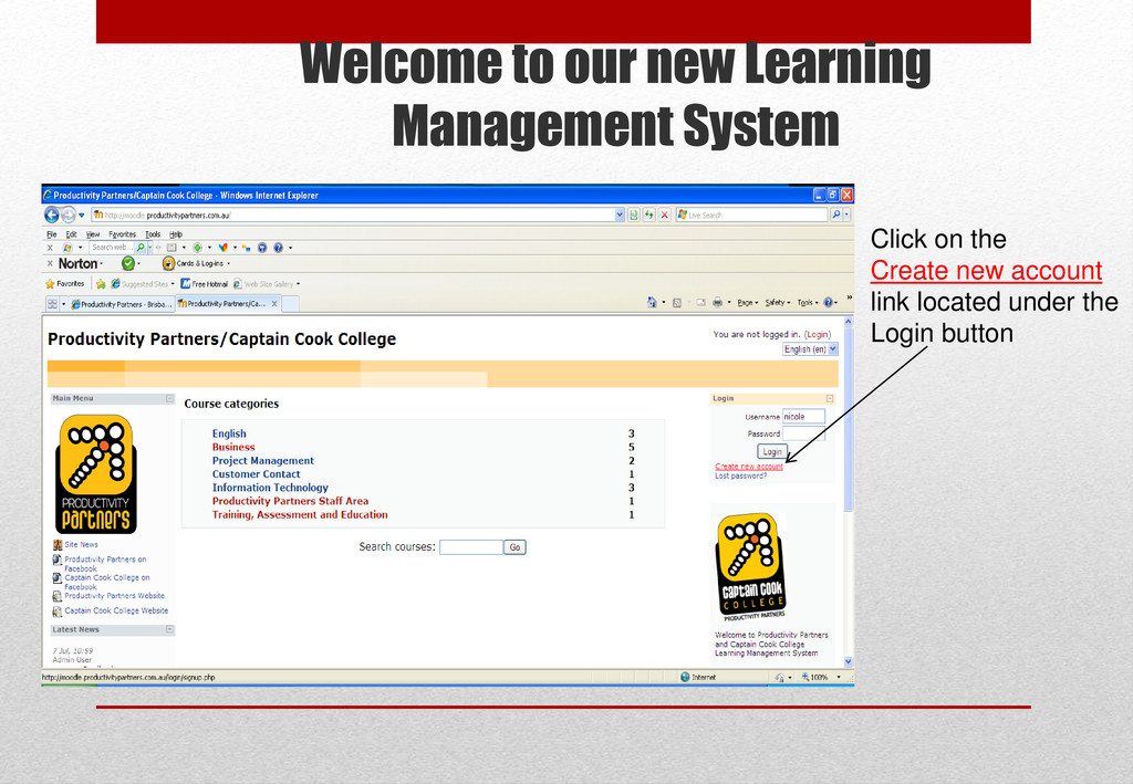 Welcome to our new Learning Management System C...
