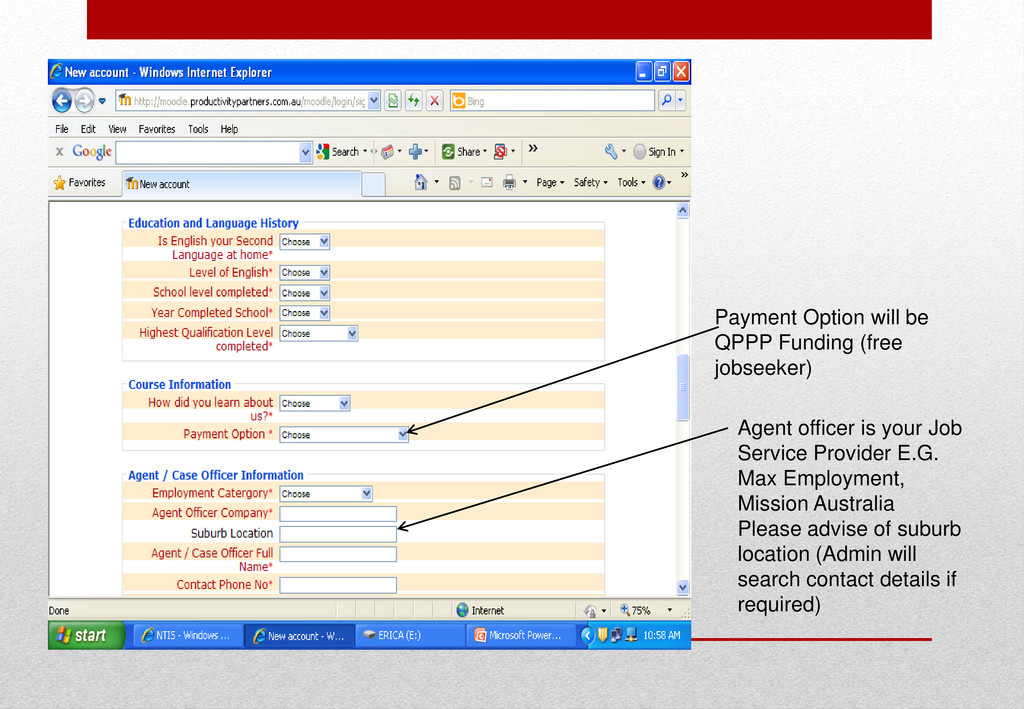 Payment Option will be QPPP Funding (free jobse...