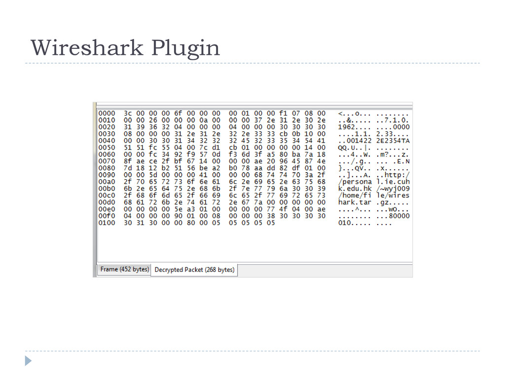 Wireshark Plugin
