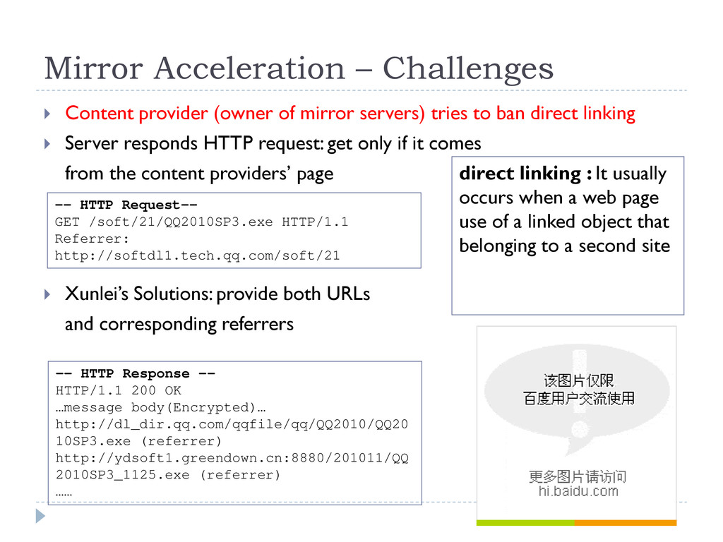 Mirror Acceleration – Challenges  Content prov...