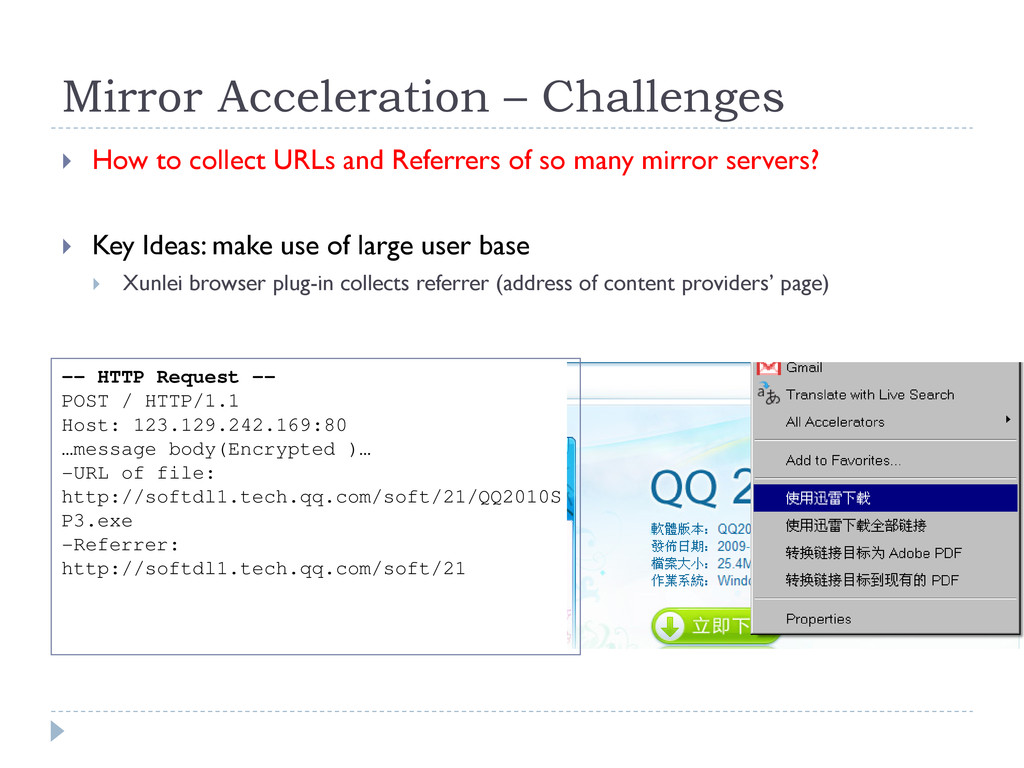 Mirror Acceleration – Challenges  How to colle...