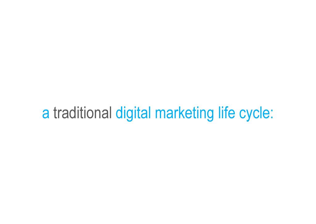 a traditional digital marketing life cycle:
