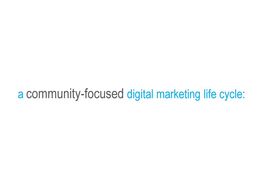 a community-focused digital marketing life cycl...