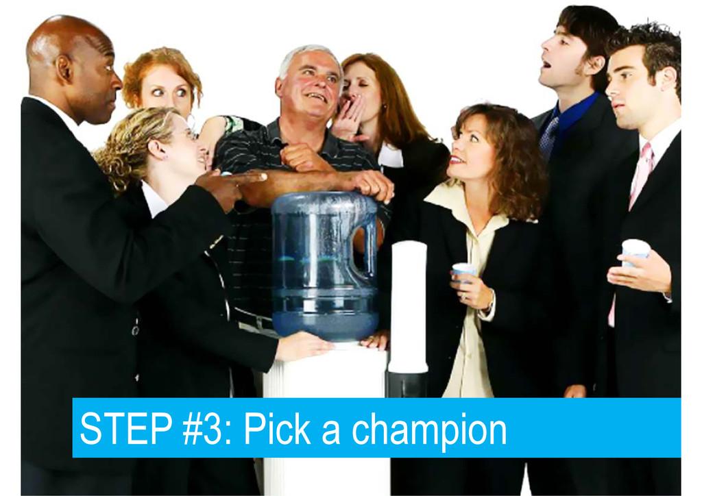 STEP #3: Pick a champion