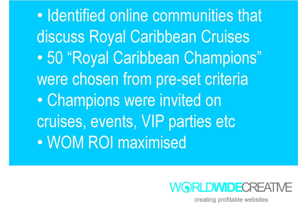 • Identified online communities that discuss Ro...