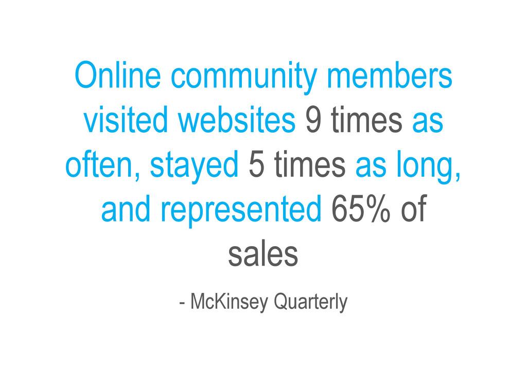 Online community members visited websites 9 tim...