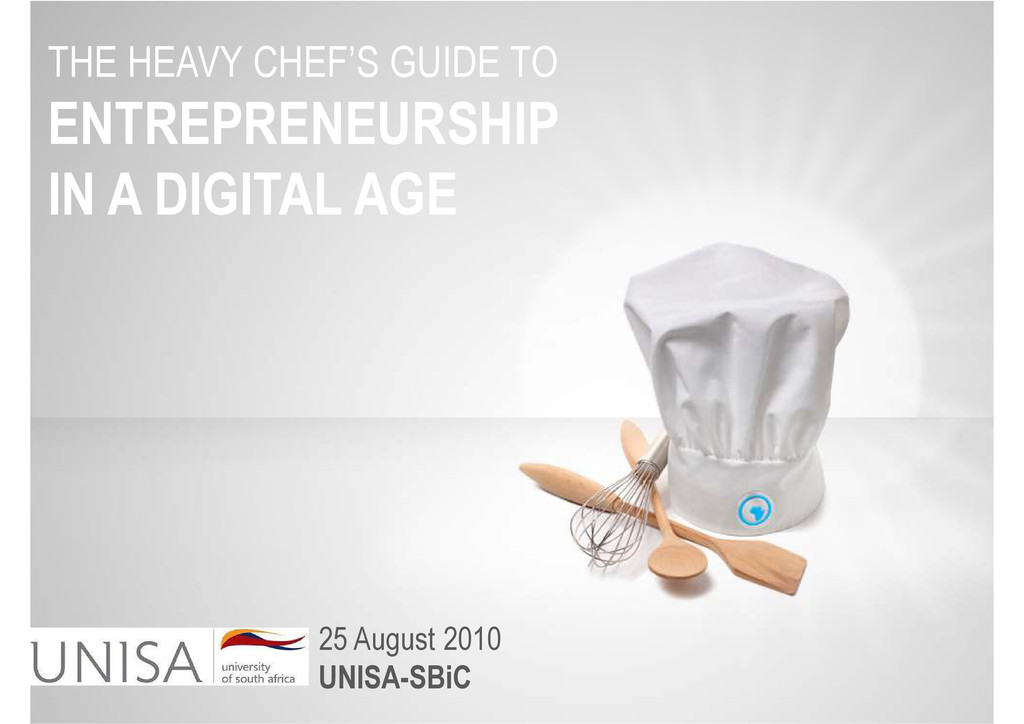 THE HEAVY CHEF'S GUIDE TO ENTREPRENEURSHIP IN A...