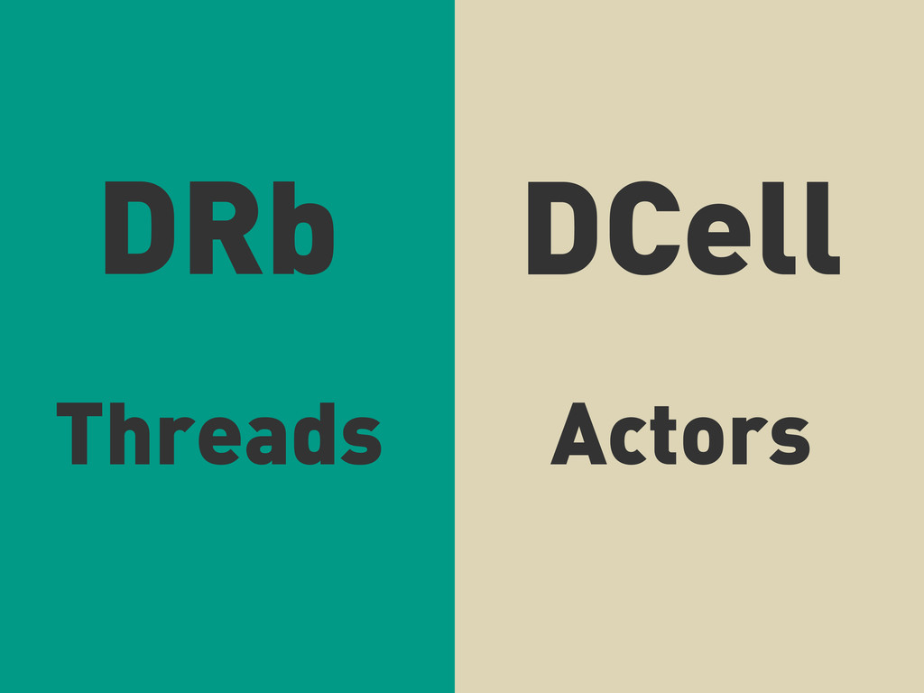 DRb DCell Threads Actors