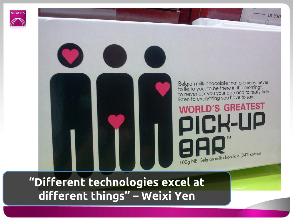 """""""Different technologies excel at different thin..."""