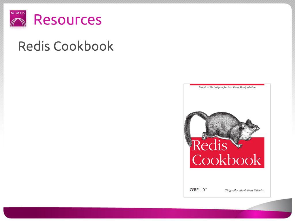 Resources Redis Cookbook