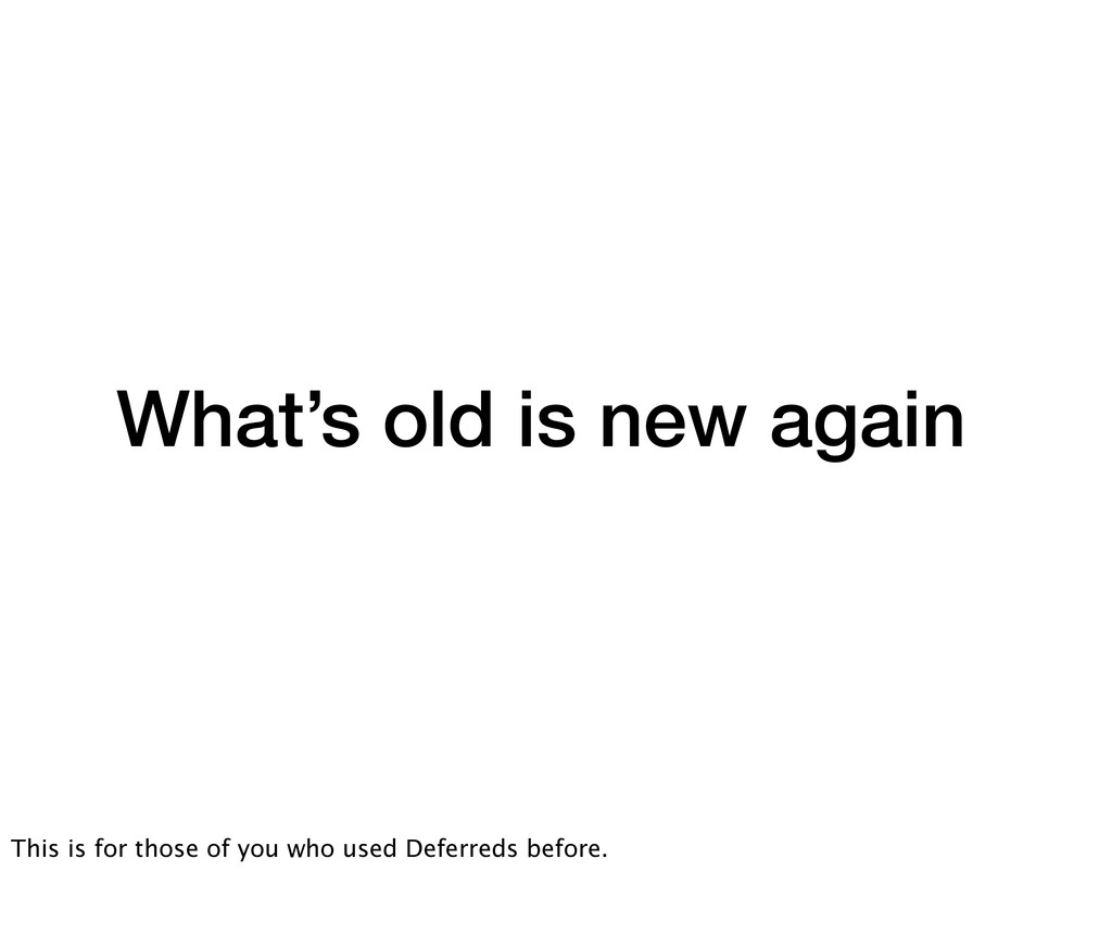 What's old is new again This is for those of yo...