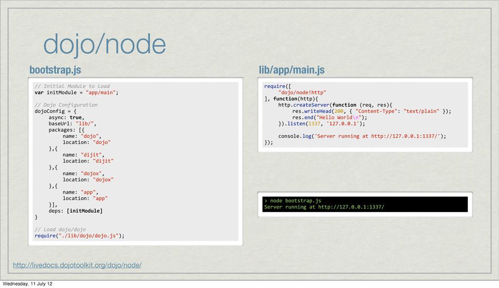 dojo/node http://livedocs.dojotoolkit.org/dojo/...
