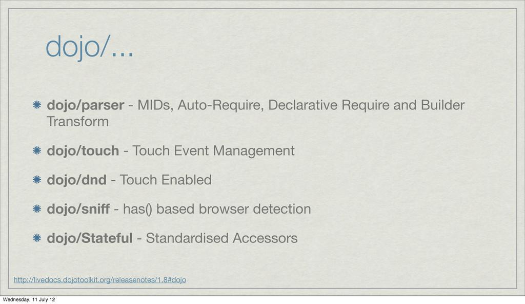 dojo/... dojo/parser - MIDs, Auto-Require, Decl...