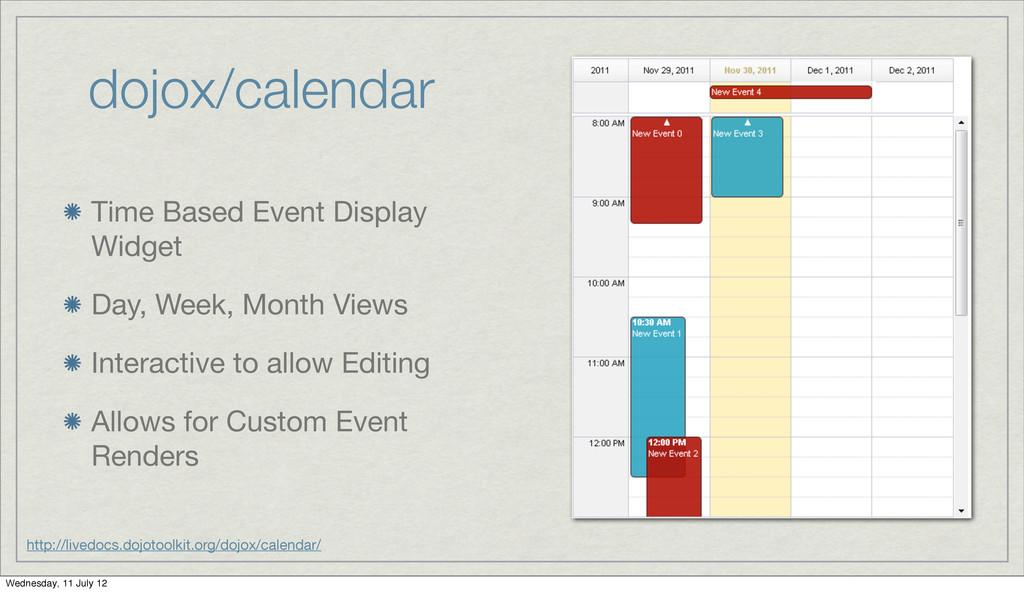dojox/calendar Time Based Event Display Widget ...