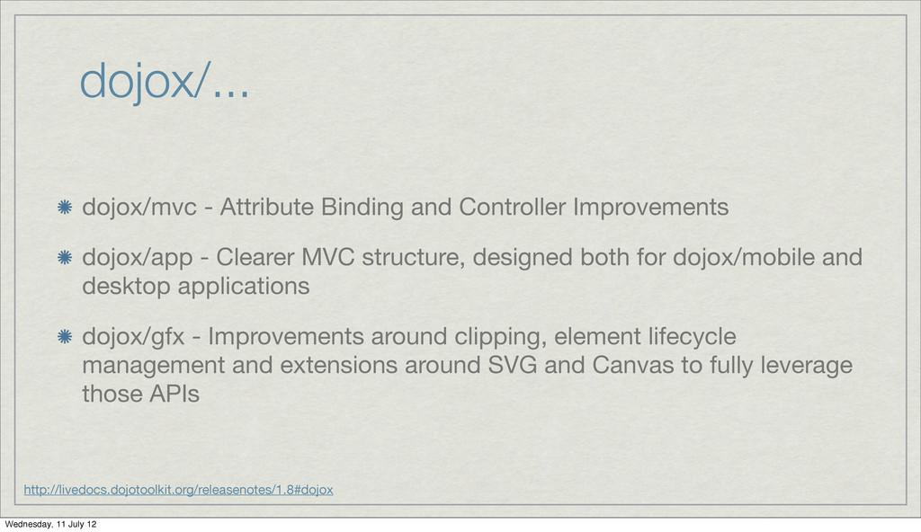 dojox/... dojox/mvc - Attribute Binding and Con...