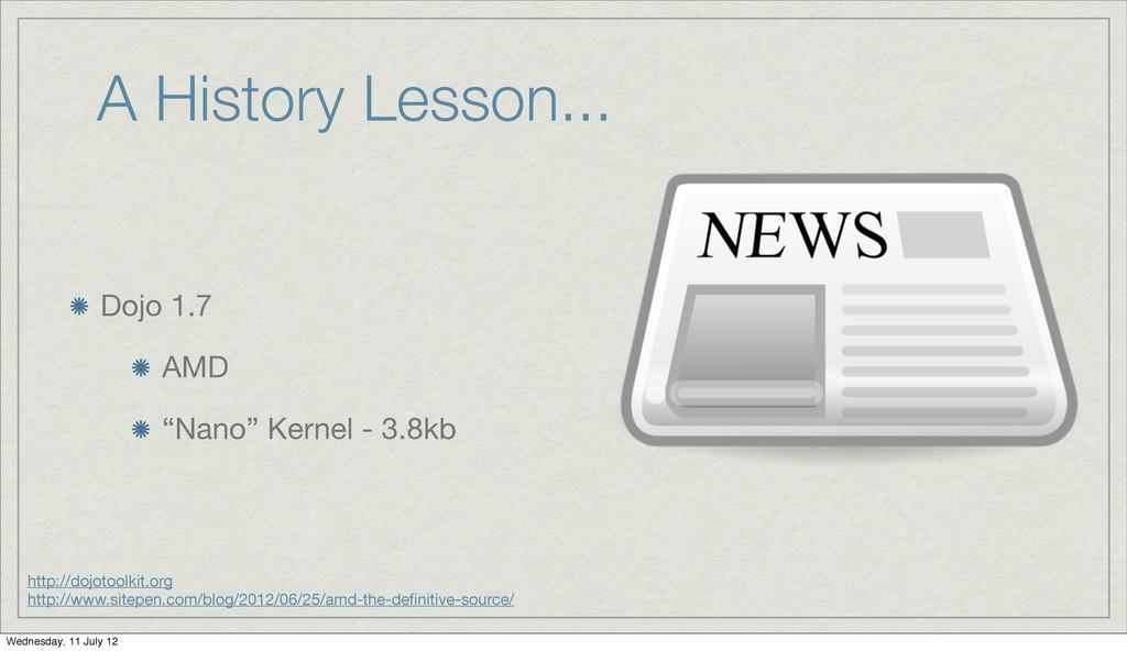 "A History Lesson... Dojo 1.7 AMD ""Nano"" Kernel ..."
