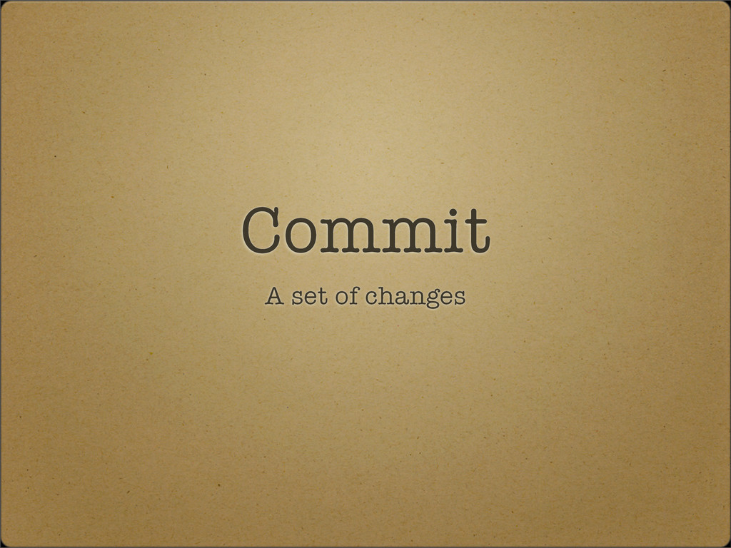Commit A set of changes