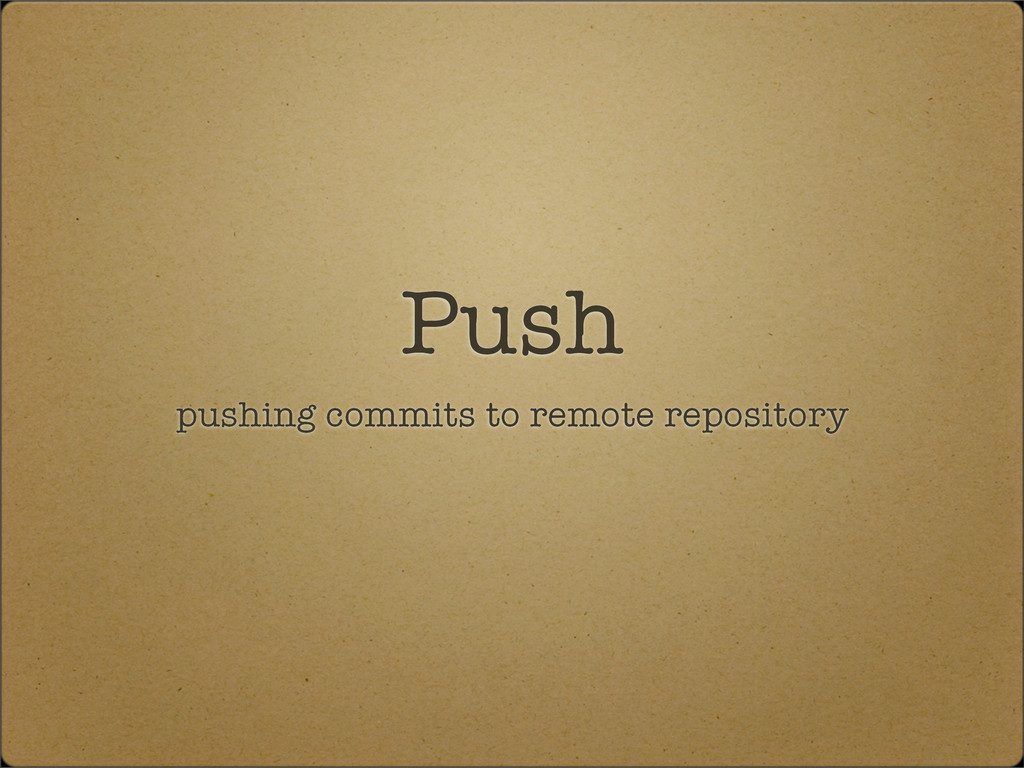 Push pushing commits to remote repository