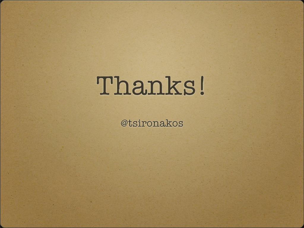 Thanks! @tsironakos