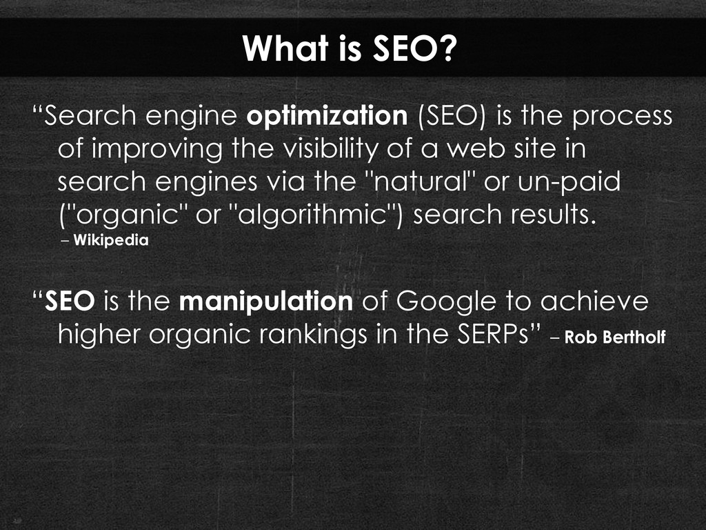 What is SEO? ―Search engine optimization (SEO) ...