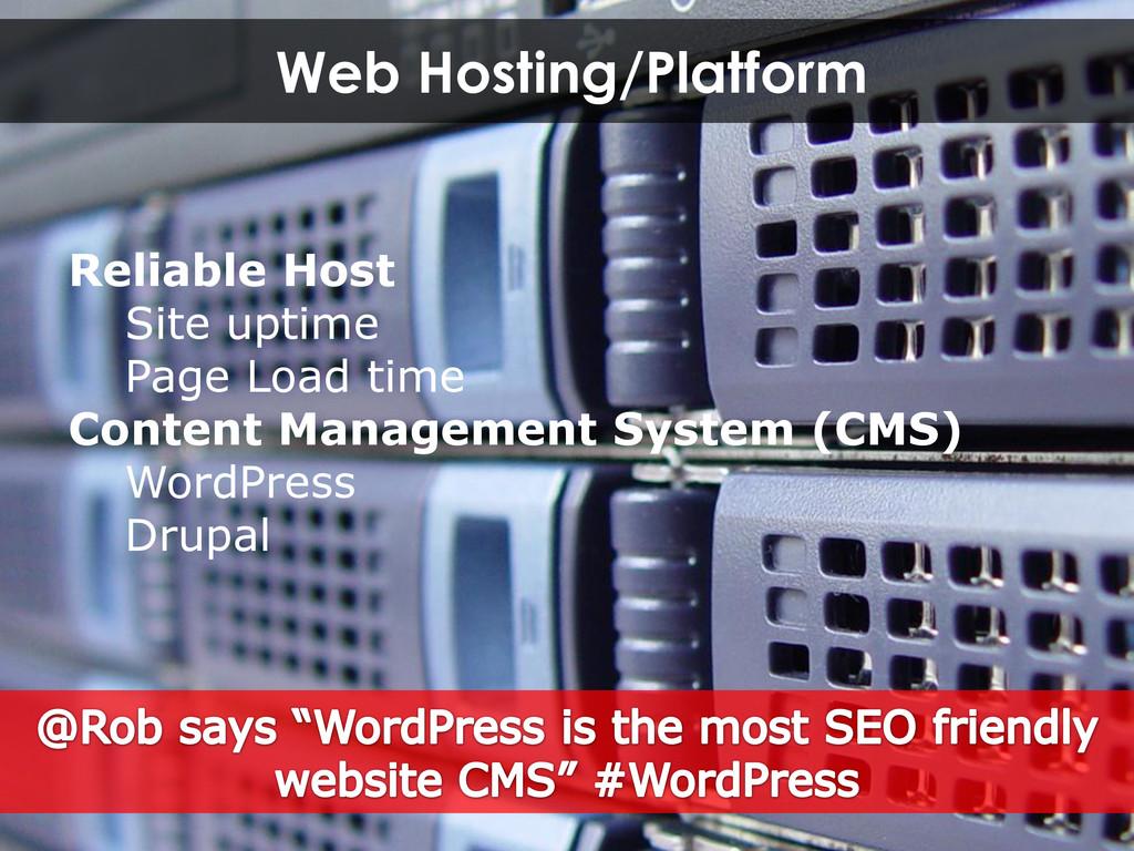 Web Hosting/Platform Reliable Host Site uptime ...