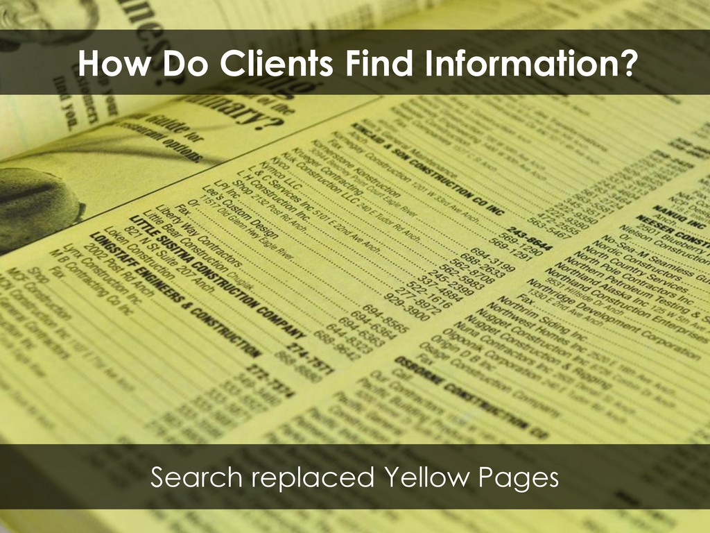 Search replaced Yellow Pages How Do Clients Fin...