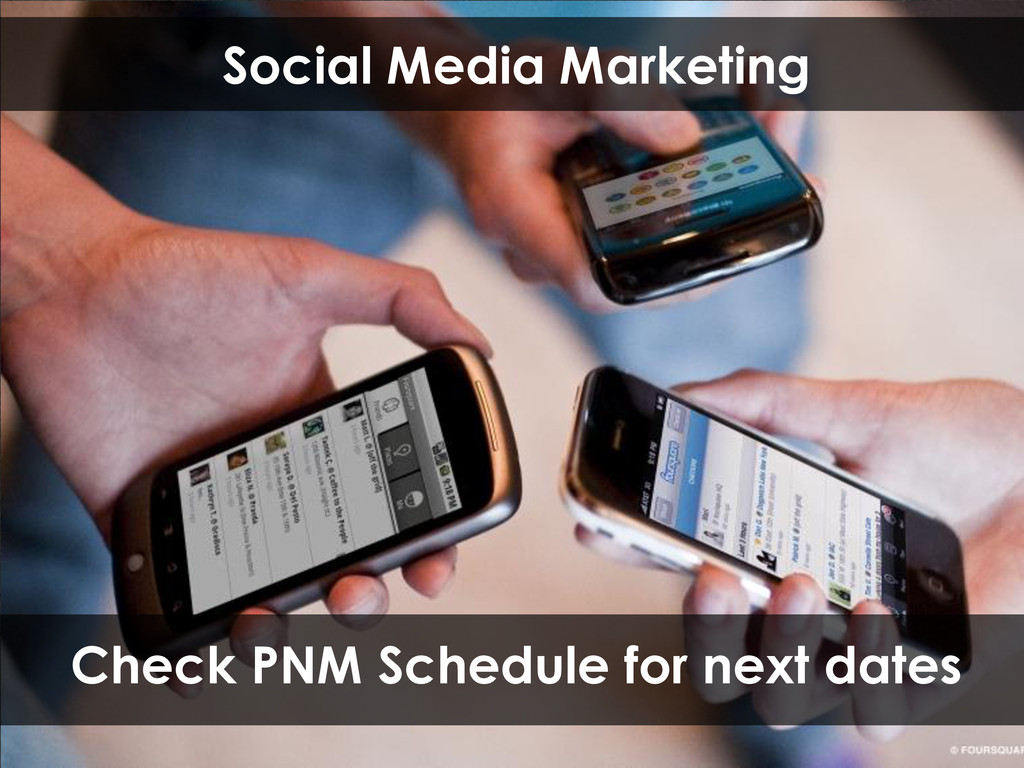 Social Media Marketing Check PNM Schedule for n...