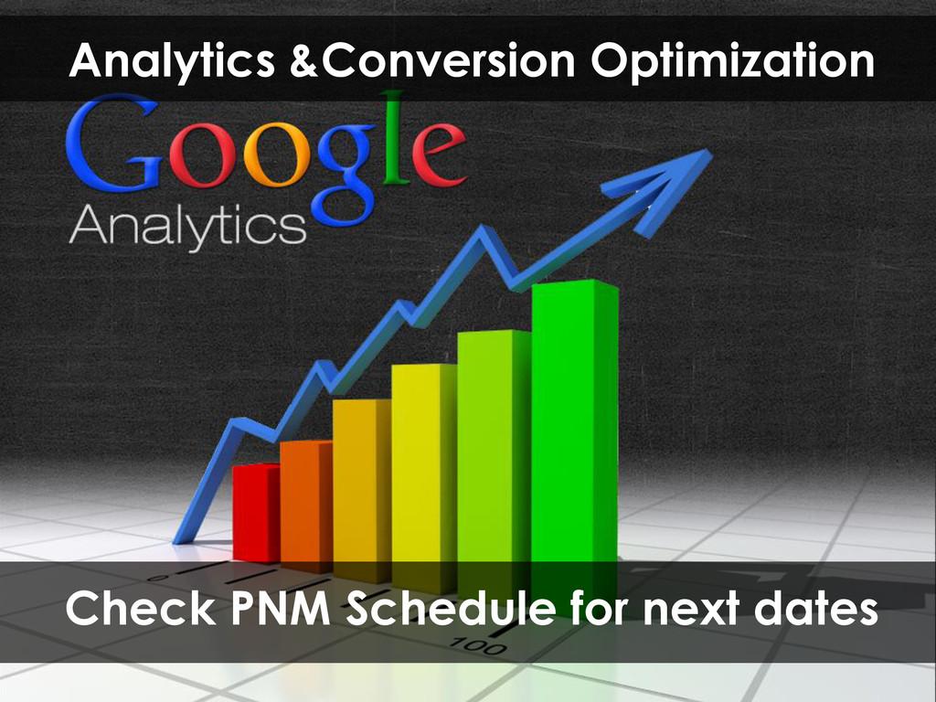 Analytics &Conversion Optimization Check PNM Sc...