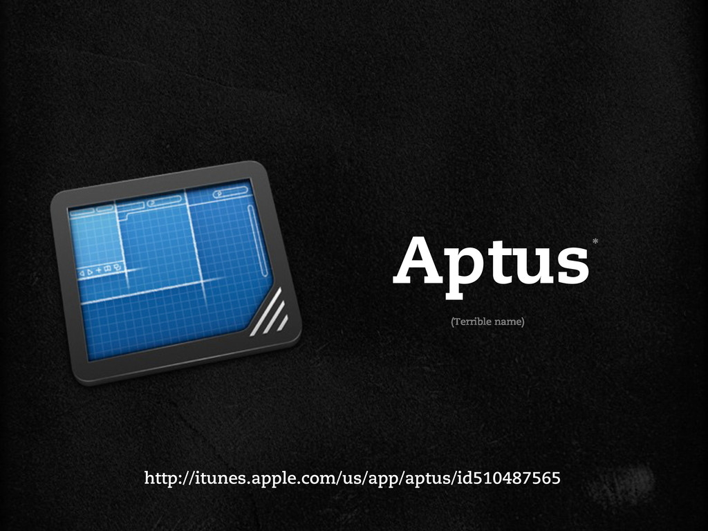 Aptus http://itunes.apple.com/us/app/aptus/id51...