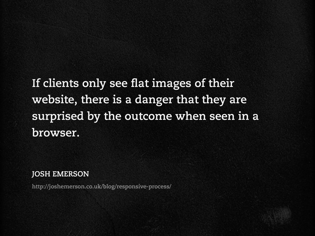 If clients only see at images of their website,...