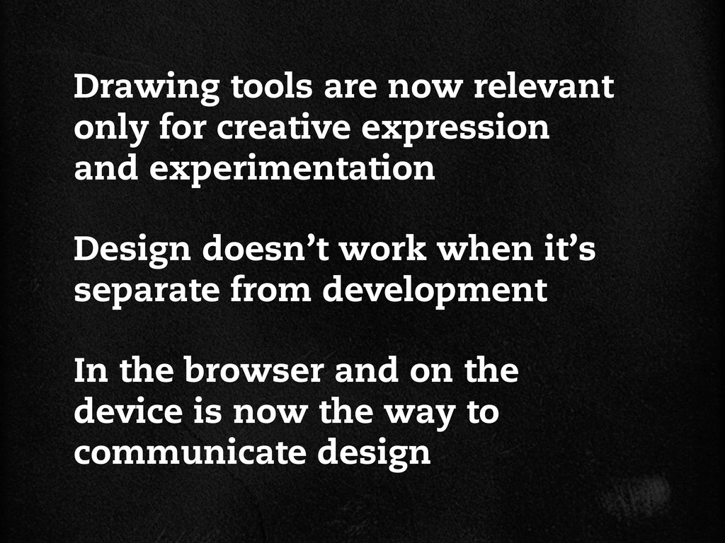 Design doesn't work when it's separate from dev...