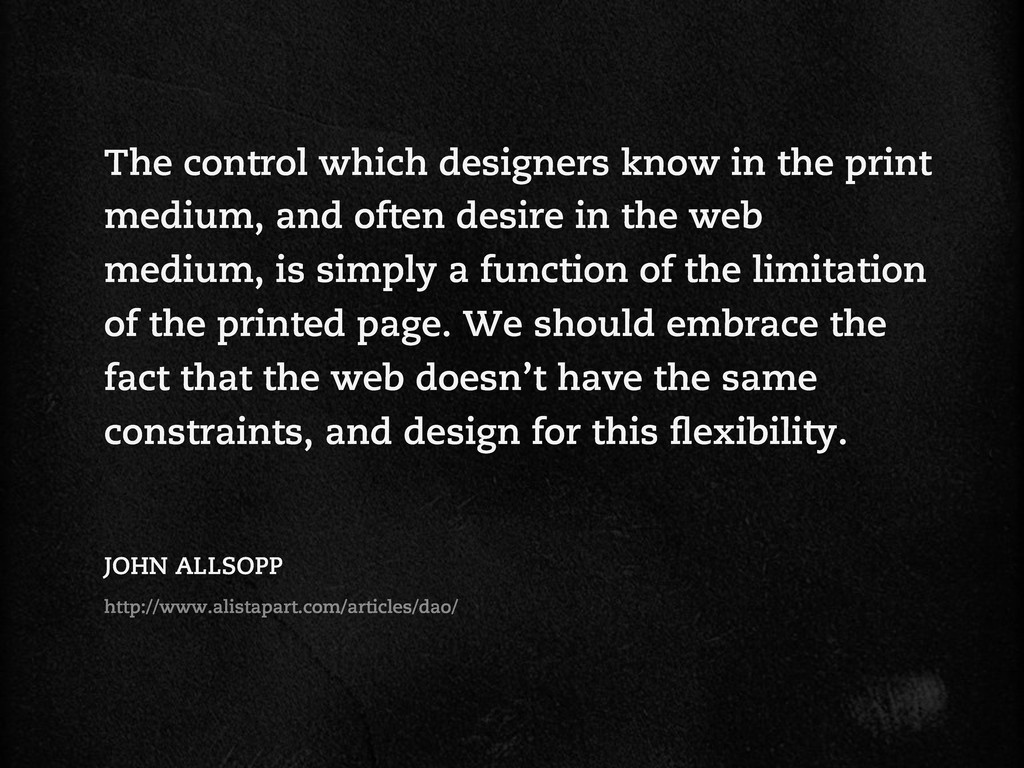 The control which designers know in the print m...
