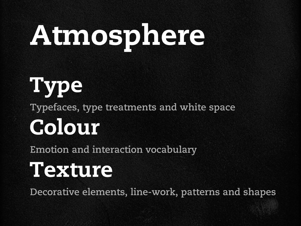 Type Colour Texture Atmosphere Typefaces, type ...