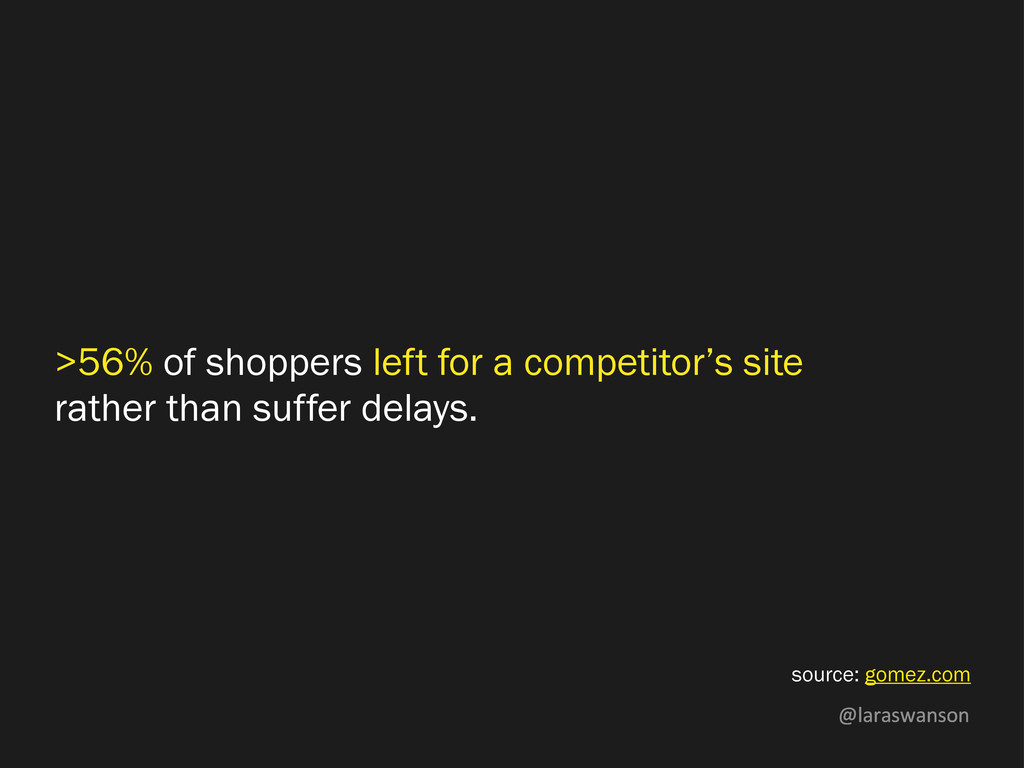 @laraswanson >56% of shoppers left for a compet...