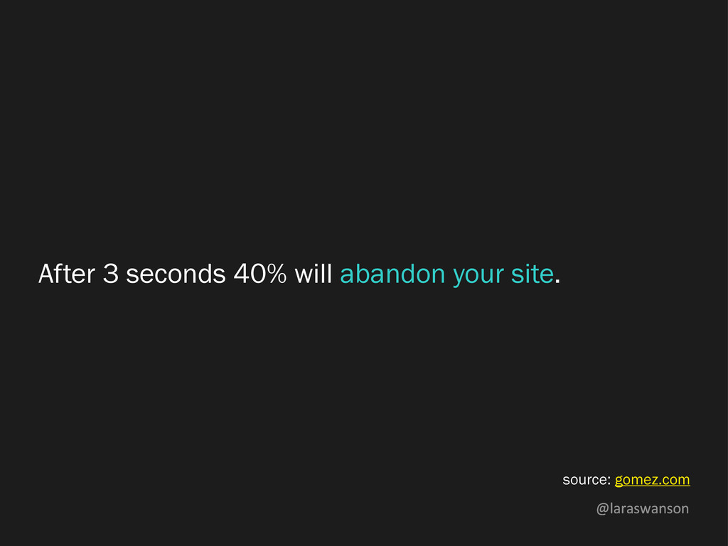@laraswanson After 3 seconds 40% will abandon y...