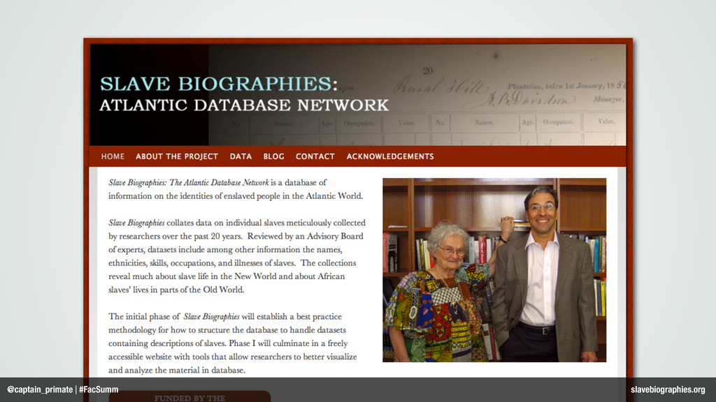 @captain_primate | #FacSumm slavebiographies.org