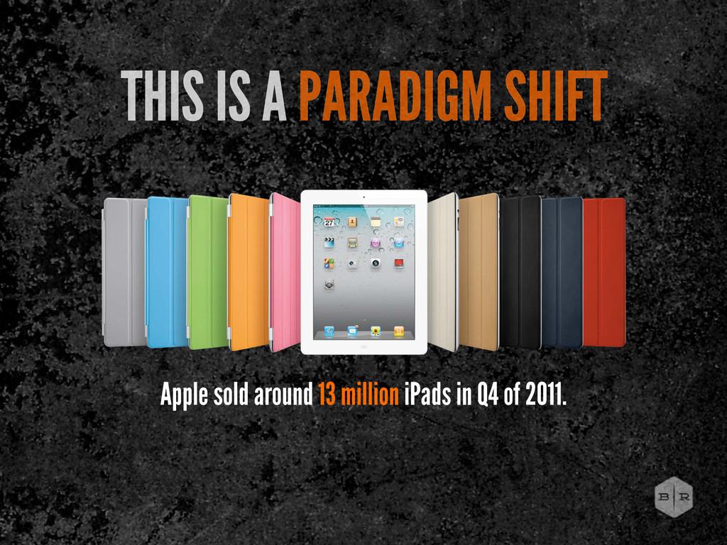 Apple sold around 13 million iPads in Q4 of 201...