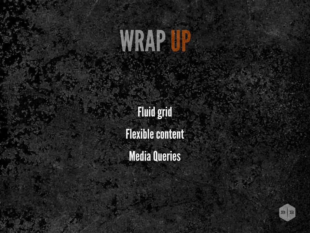 Fluid grid Flexible content Media Queries WRAP ...
