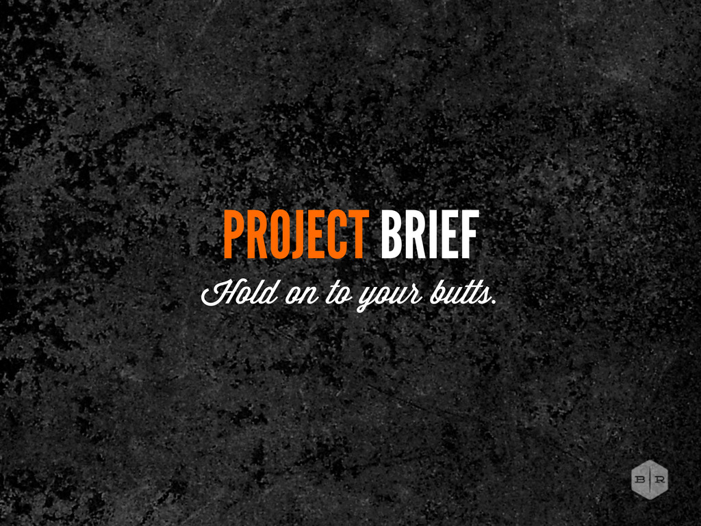 PROJECT BRIEF Hold on to your butts.