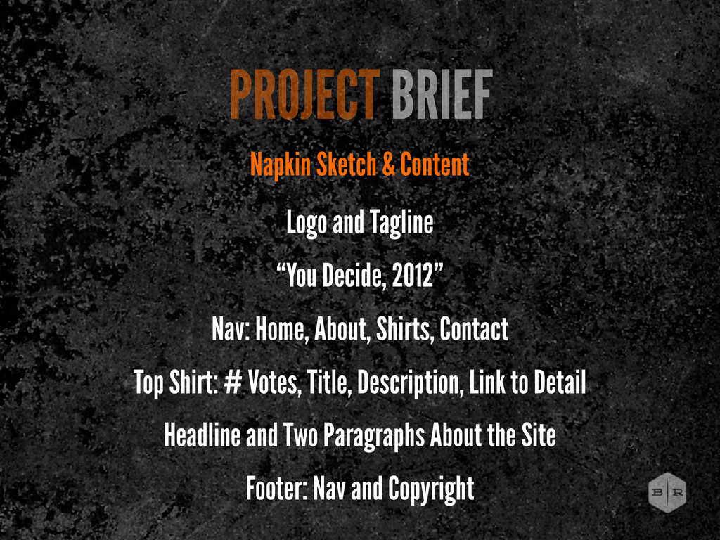 PROJECT BRIEF Napkin Sketch & Content Logo and ...