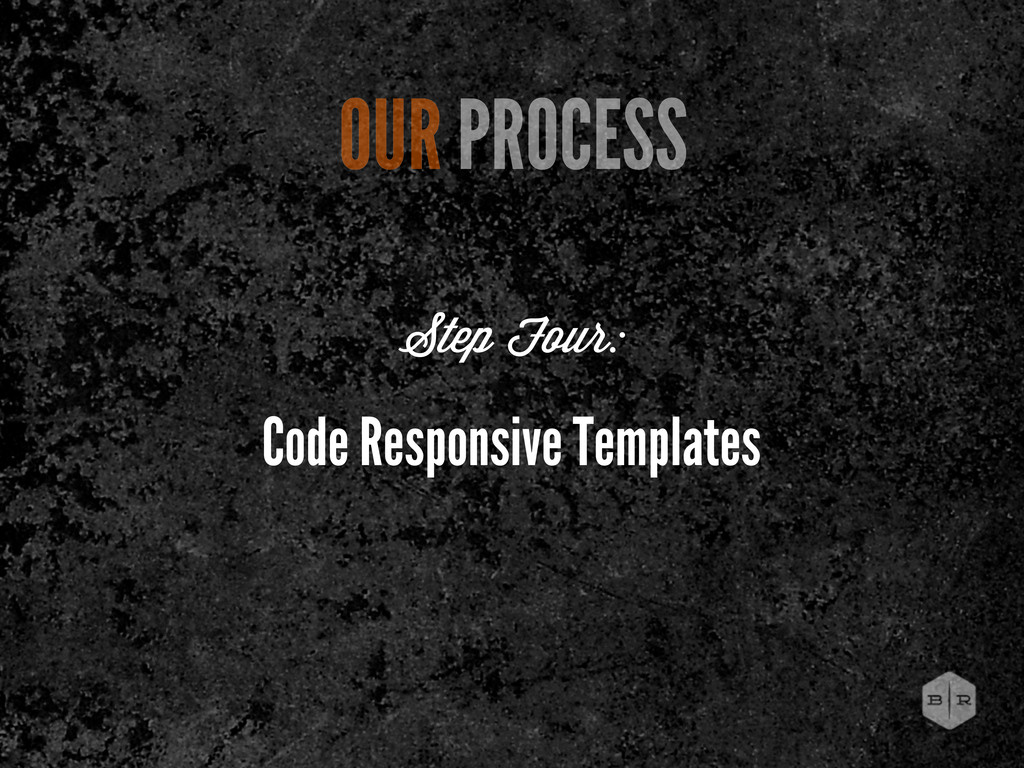 Code Responsive Templates OUR PROCESS Step Four: