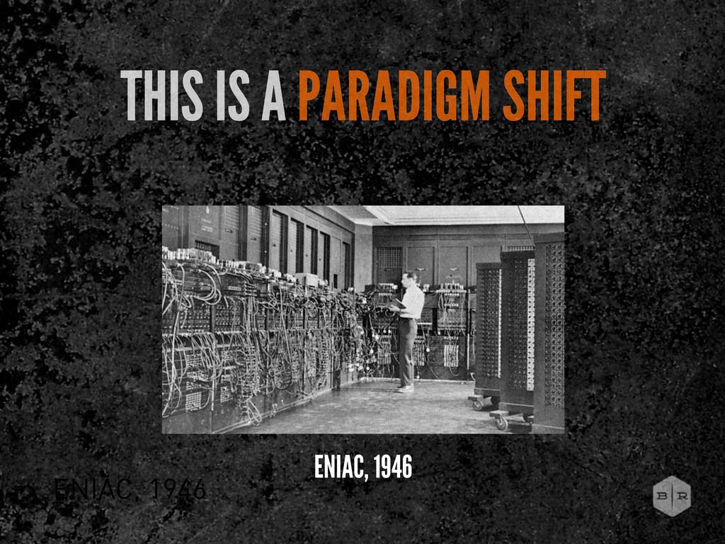 ENIAC, 1946 THIS IS A PARADIGM SHIFT ENIAC, 1946