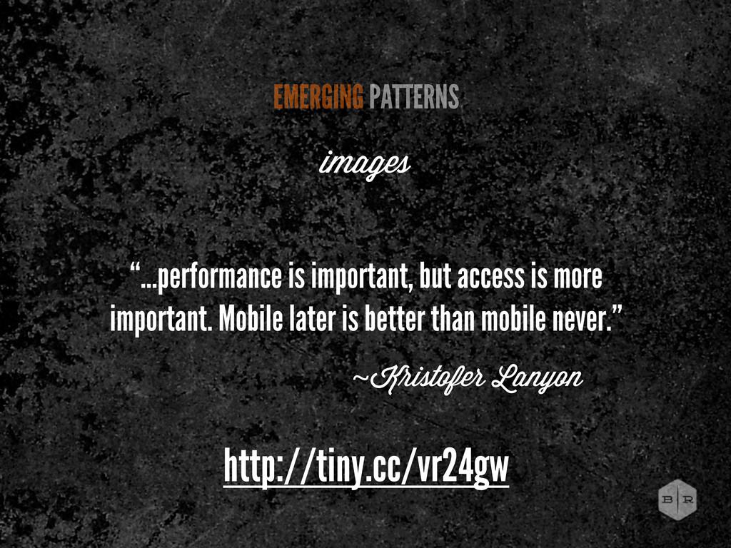 http://tiny.cc/vr24gw EMERGING PATTERNS images ...
