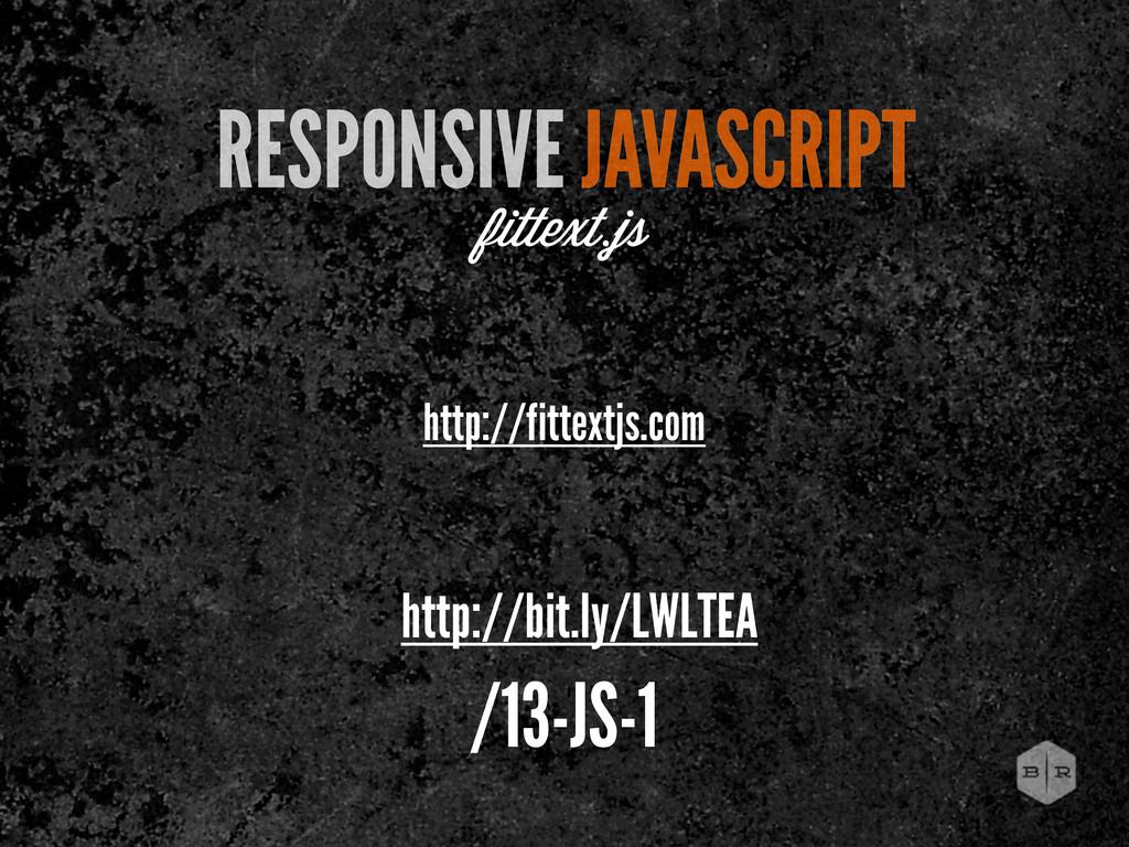 http://fittextjs.com RESPONSIVE JAVASCRIPT fitt...