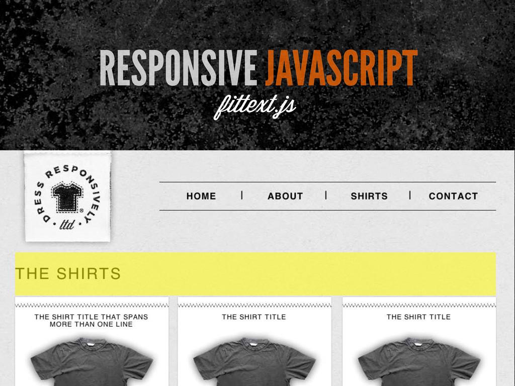 RESPONSIVE JAVASCRIPT fittext.js
